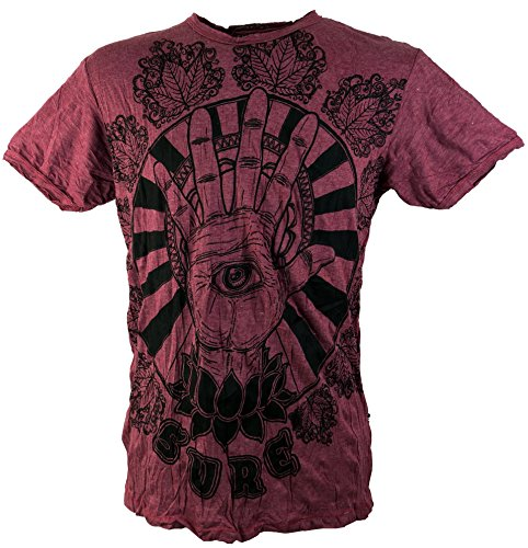 GURU SHOP Sure Magic Eye - Camiseta de algodón para hombre burdeos L
