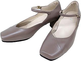 [アシックス] pedala ペダラ WP657R レディース パンプス スクエア 甲ストラップ 通勤靴 仕事靴 日本製 Pグレーベージュ(P64)