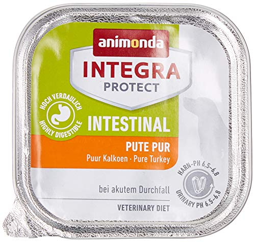 animonda Integra Protect Hunde Intestinal, Diät Hundefutter, Nassfutter bei Durchfall oder Erbrechen, Pute Pur, 11 x 150 g