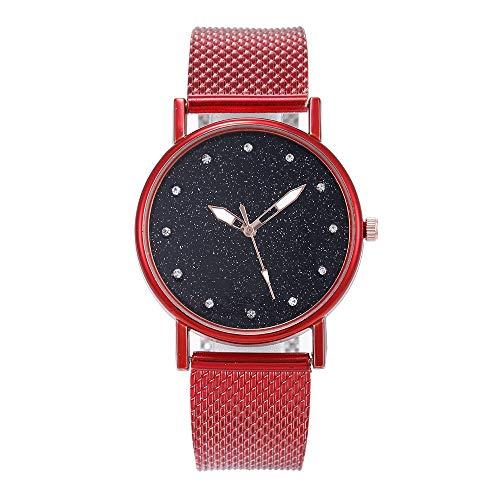 SoonerQuicker Uhr Armbanduhr Quartzuhr Frauen Uhren Mode Damenuhr Armbanduhren Analoge Quarz Lederband Wasserdicht Billig Geschäft Geschenke, Geschenke Für Frauen-24