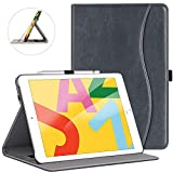 cheapest ipad 1 - ZtotopCase for New iPad 7th Generation 10.2 Inch 2019, Premium PU Leather Slim Folding Stand Cover with Auto Wake/Sleep, Multiple Viewing Angles for Newest iPad 7th Gen 10.2'' 2019, Dark Grey