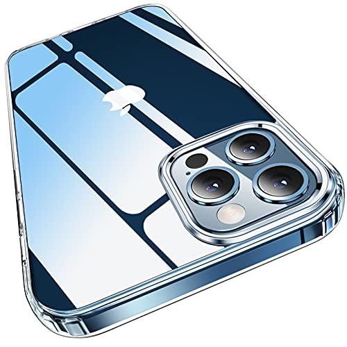 Elando Klare Hülle Kompatibel mit iPhone 12 Pro Max, Vergilbungsfrei, Stoßfestigkeit Kratzfeste & durchsichtige Schutzhülle - Crystal Clear
