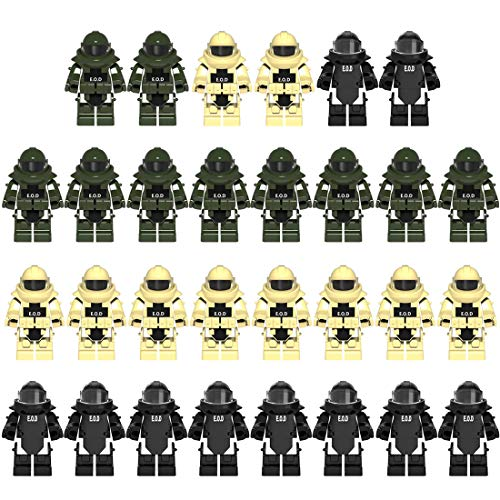 PARIO 30St. EOD Custom Rüstung Set für Bundeswehr Pionier Mini Figuren SWAT Team Polizei, kompatibel mit Lego