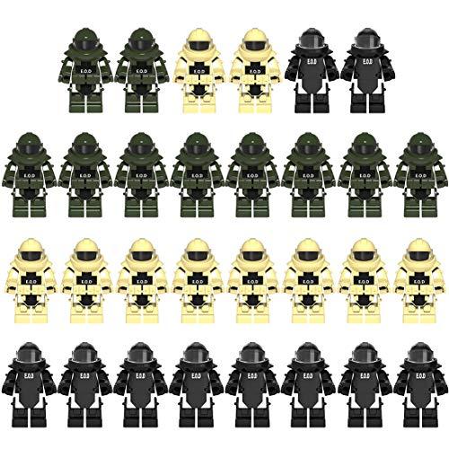 NURICH 30St. Custom EOD Kleidung Set für Bundeswehr Pionier Explosive Ordance Disposal SWAT Team Minifiguren Satz Bausteine für Kinder, passen zum Lego
