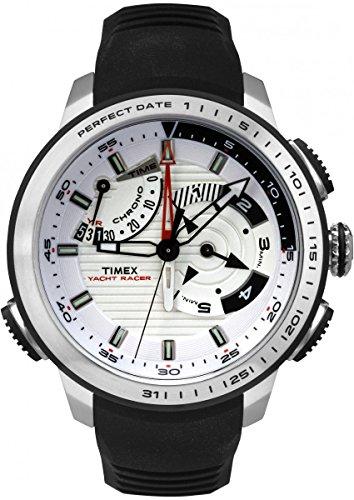 Timex Yacht Racer - Reloj (Reloj de Pulsera, Masculino, Acero Inoxidable, Blanco, Resina, Negro)