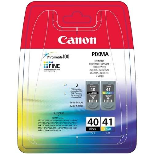Tinta Original CANON PG-40/CL-41 Black para PIXMA iP1600 iP1700,iP1800, iP2600,MP150,MP160,MP170,MP180,MP210,MP450,MP460,MX300,MX310,PowerShot A530/PIXMA MP46