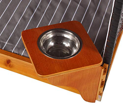 Mr. Deko Hundestrandkorb PE schwarz Dessin grau gestreift ohne Schutzhülle für Garten, Terrassen, Wohnzimmer, Strandkörbe, Hundekorb, Körbchen, Strandkorb, Hund, Katze, Hundebett, Napf, Hundehütte - 3