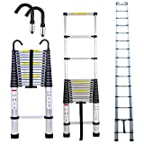 6.2 Meters Telescoping Extension Ladder and Roof Hook Kit Aluminum Folding Ladders Capacity