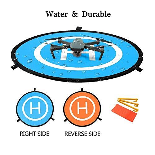 Drone Landing Pad, 30'/75cm Waterproof Portable Foldable Helipad Helicopter Landig Mat for DJI Mavic Pro Phantom 2/3/4/ Pro, RC Drones Helicopter, Mavic Pro, Karma drone, DJI Mavic Air, Inspire and Mo