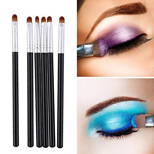 AHEFA6Pcs Professionnel Pinceaux De Maquillage Portable Exquis Exécution Et Mode Fard À Paupières Eyeliner Paupière Pinceau Nail Art Outils
