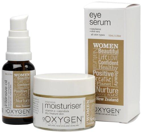 Oxygen Womens Intensive Moisture Geschenk Set - Feuchtigkeitscreme, Augenserum, Botanisches Intensiv-Öl, 1er Pack (1 x 80 ml)