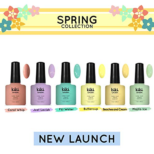 Spring Collection 2019 – (Set de 6) Pastel – Esmalte de uñas profesional UV/LED calidad preimum. Por Kiki LondonTM