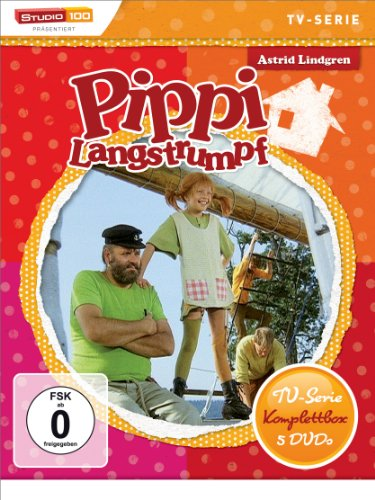 Astrid Lindgren: Pippi Langstrumpf - TV-Serie Komplettbox [5 DVDs, Digital restauriert]