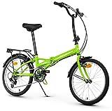 Anakon Folding Sport Bicicleta Plegable, Adultos Unisex, Verde
