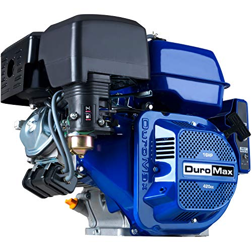 DuroMax XP16HPE 420cc Recoil/Electric Start Gas Powered 50 State Approved, Multi-Use Engine, XP16HPE, Blue