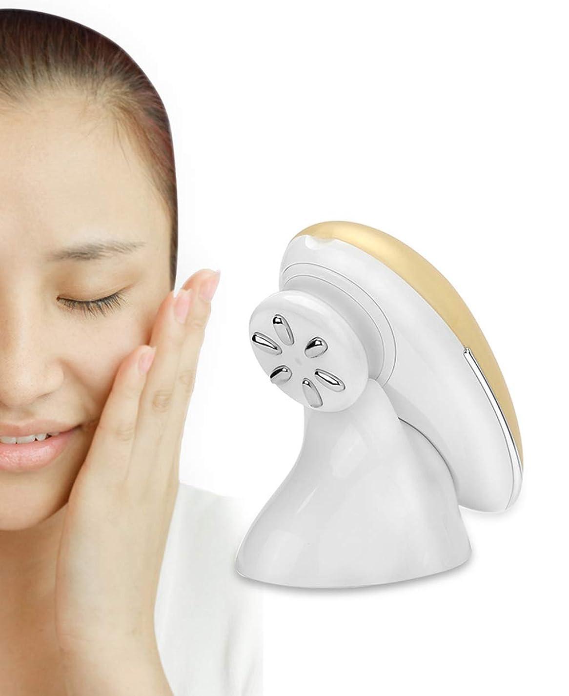 発動機落ち着いたマイクロEMSパルス美容機器、RFしわ肌の顔の肌を引き締め抗老化美容機器