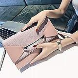 Pequeño Bolso CK Bolso Femenino sobre sobre Bolso Moda Femenina Coreana Temperamento Salvaje Diagonal Bolso de Mano de un Hombro para Mascotas Bolso para Mujer Rosa