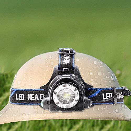 Chuanghong - Faro LED potente T6 recargable con sensor de movimiento, cabeza linterna de bolsillo, lámpara de camping, lámpara para pesca