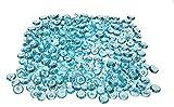 Decomadeinitaly Edelsteine aus Acryl-Kunststoff, Diamanten, Kristalle mit leuchtenden & lebendigen Farben in 500 ml Dosen, ca. 375 g (Türkis).