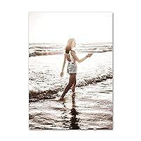 北欧のポスターモダンウォールアートミニマリストキャンバス絵画ファッションセクシーな女性のプリントリビングルームの家の装飾写真50x70cmx1フレームなし