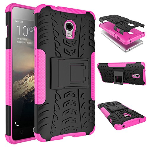 WindHülle Lenovo Vibe P1 Hülle, Outdoor Dual Layer Holster Armor Tasche Heavy Duty Defender Schutzhülle mit Ständer Hülle für Lenovo Vibe P1 Rosa