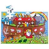 BigJigs Jouets Arche de Noé en Bois pour Enfants étage Jigsaw Puzzle (48 pièces)