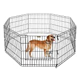 RvPaws Homes for Pets Folding Metal Exercise Play Pen, Foldable Metal Pet Exercise and Playpen with Single Door Cage (60cm X 60 cm 6 Panel (24 Inch))