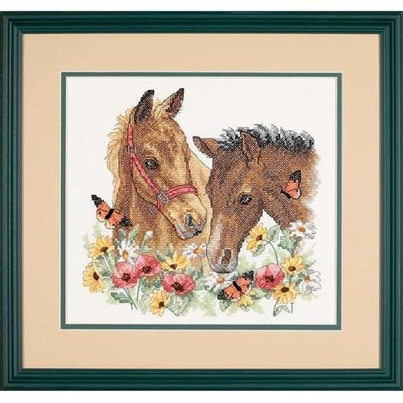 Dimensions 'Horse Friends' Stamped Cross Stitch Kit, 12'' W x 11'' H