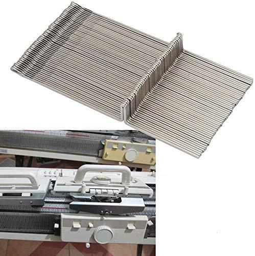 HEEPDD 50 Stücke Stahl Strickmaschine Nadeln Set, KR830 KR838 KR850 Stricknadeln Professionelle Weben Nadeln Strickmaschinen Zubehör (4,7 in Länge)