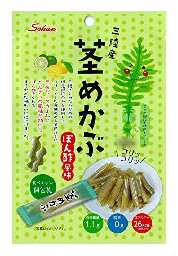 壮関 三陸産茎めかぶぽん酢風味 30g ×6袋