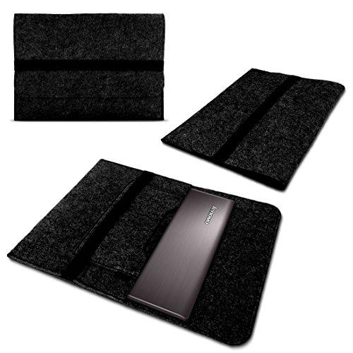 NAmobile Schutzhülle kompatibel für Lenovo Yoga C930 900 900S 910 510 520 530 710 720 Tasche Hülle Filz Hülle Dunkelgrau