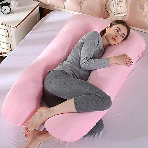 Liuyang Cuscino Allattamento Cuscini per Il Corpo Cuscino per Gravidanza Cuscino per maternità Federe per Cuscini per Dormire Incinta-Cina_Cotone-4