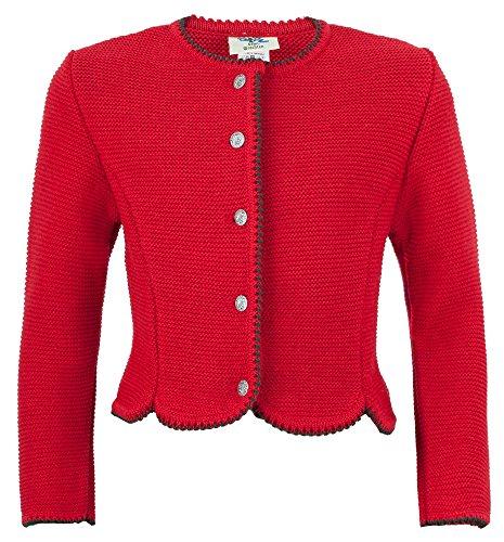 Isar-Trachten Strickjacke Amy für Mädchen - Rot Gr. 116