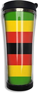NiYoung Vacuum Insulated Tumbler Stainless Steel Water/Tea/Coffee Cup, Zimbabwe Flag Thermal Travel Mug for Ice Drink Hot Beverage