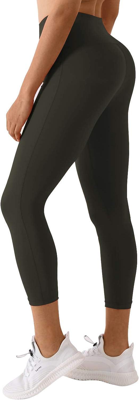 BUBBLELIME 22 26 Inseam High Compression Yoga Pants Running Pants High Waist w