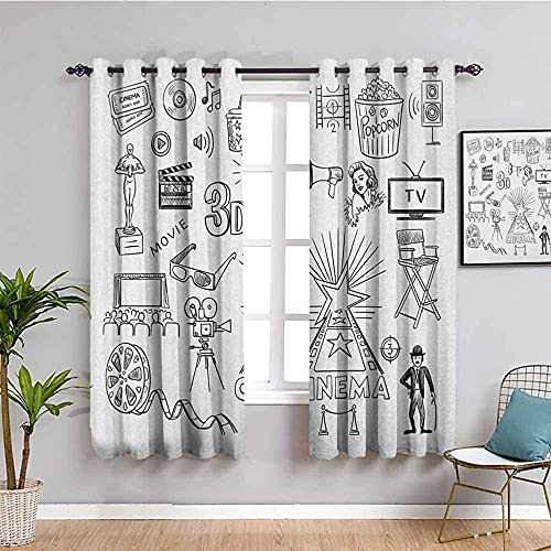 QFAZO Cortina 3D De Dormitorio Dibujos Animados Manga Blanco Arte 214X160Cm Adecuado Para Dormitorio Sala De Estar Habitación Infantil Cortinas Opacas Hogar Y Cocinadecoración De Ventanas