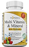 Whole Food MultiVitamin & Mineral Plus Probiotic Enzymes – Increased Energy,...