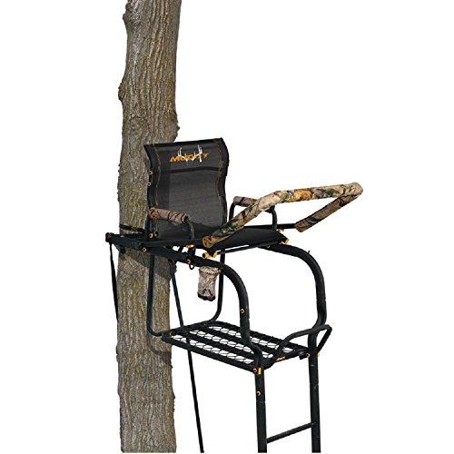 Muddy MLS1776 Odyssey Xtl with Tree Lok System 20' Ladder Treestand, Black