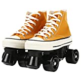 CHSSIH Quad-Roller Skate for Women,Roller Skates Light Up Wheels,Canvas Double Row Rink Skates for...