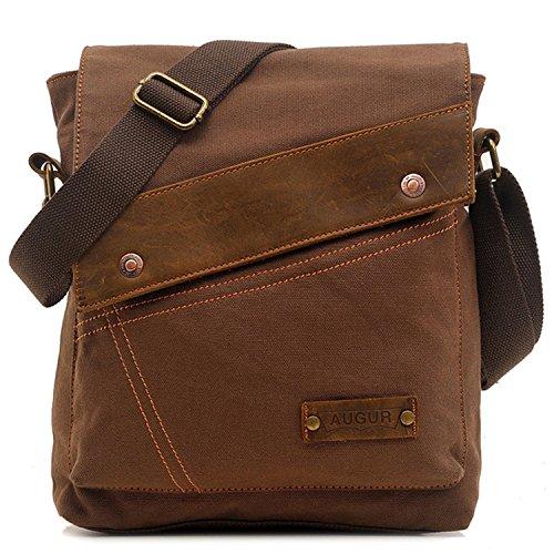 Aibag Messenger Bag, Vintage Small Canvas Shoulder Crossbody Purse (Coffee) Eco Friendly Messenger Bag