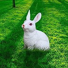 ZPEE ديكورات المنزل حديقة ديكور حديقة رياض الأطفال منحوتات الحرف الراتنج محاكاة الراتنج الحيوان الأرنب الديكور سطح المكتب
