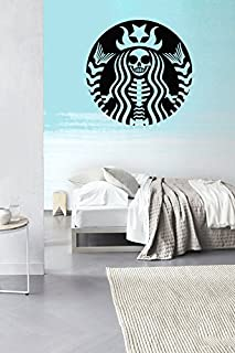 CreativeWallDecals Wall Decal Vinyl Sticker Decals Art Decor Mans Woman Sign Coffee Star Scull Bedroom Studio Dorm Office Living Room (r1332)