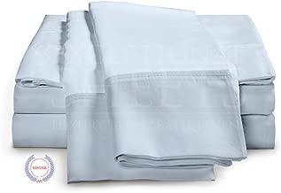 eLuxurySupply 4-Piece Bamboo Sheet Set - Ultra Soft 100% Rayon from Bamboo California King Blue BambooCALKINGBLUE