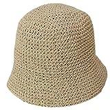 XMYNB Sombrero para El Sol Mujeres De La Armadura De Verano Ganchillo Gorro De Ganchillo Sombrero Color Sólido Protector Solar Bóveda Doma Elegante Playa Plegable Pescador Gorra