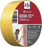 Kip Tape 208-35 Washi-Tec – Dünnes Abdeckband aus Spezial-Washi-Papier für extrem scharfe Farbkanten – Malerkrepp zum Streichen & Lackieren – 36mm x 50m
