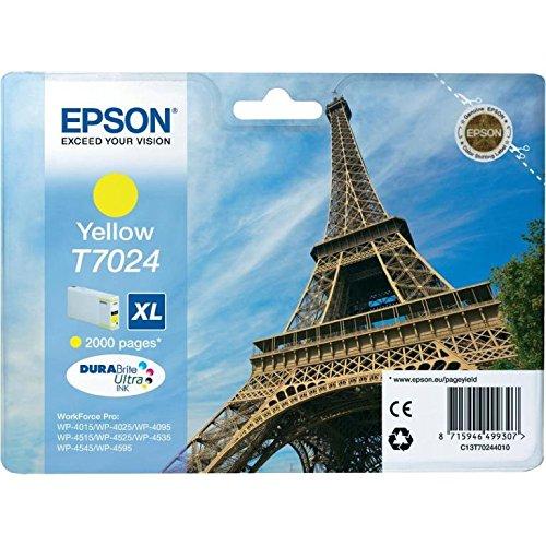 Cartucho original Epson T7024 C13T70244010 amarillo XL tintas Torre Eiffel