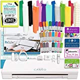 Silhouette Cameo 3 Bluetooth Bundle with 12x12 Sheets of Oracal 651 Vinyl, 24 Sketch Pens, Pixscan Mat and Guide Books