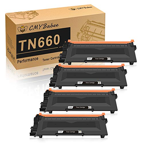 CMYBabee Compatible Toner Cartridge Replacement for Brother TN660 TN630 DCP-2560DN MFC-L2707DW MFC-L2700DW HL-L2380DW DCP-L2540DW HL2340DW MFC-L2740DW MFC-L2685DW HL-L2300D Printer (Black, 4-Pack) -  CMYBabee-660*4