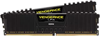 Corsair CMK32GX4M2D3000C16 Vengeance LPX 32GB (2 x 16GB) DDR4 3000 (PC4-24000) C16 1.35V Desktop Memory Black