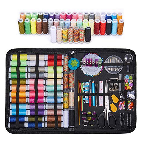 Sewing Kit, 226 Pcs Sewing Kit Basic Premium Sewing Supplies, 43 XL Thread Spools, Sewing Kit Suitable for Traveller, Adults, Kids, Beginner, Emergency, DIY and Home Large Sewing kit